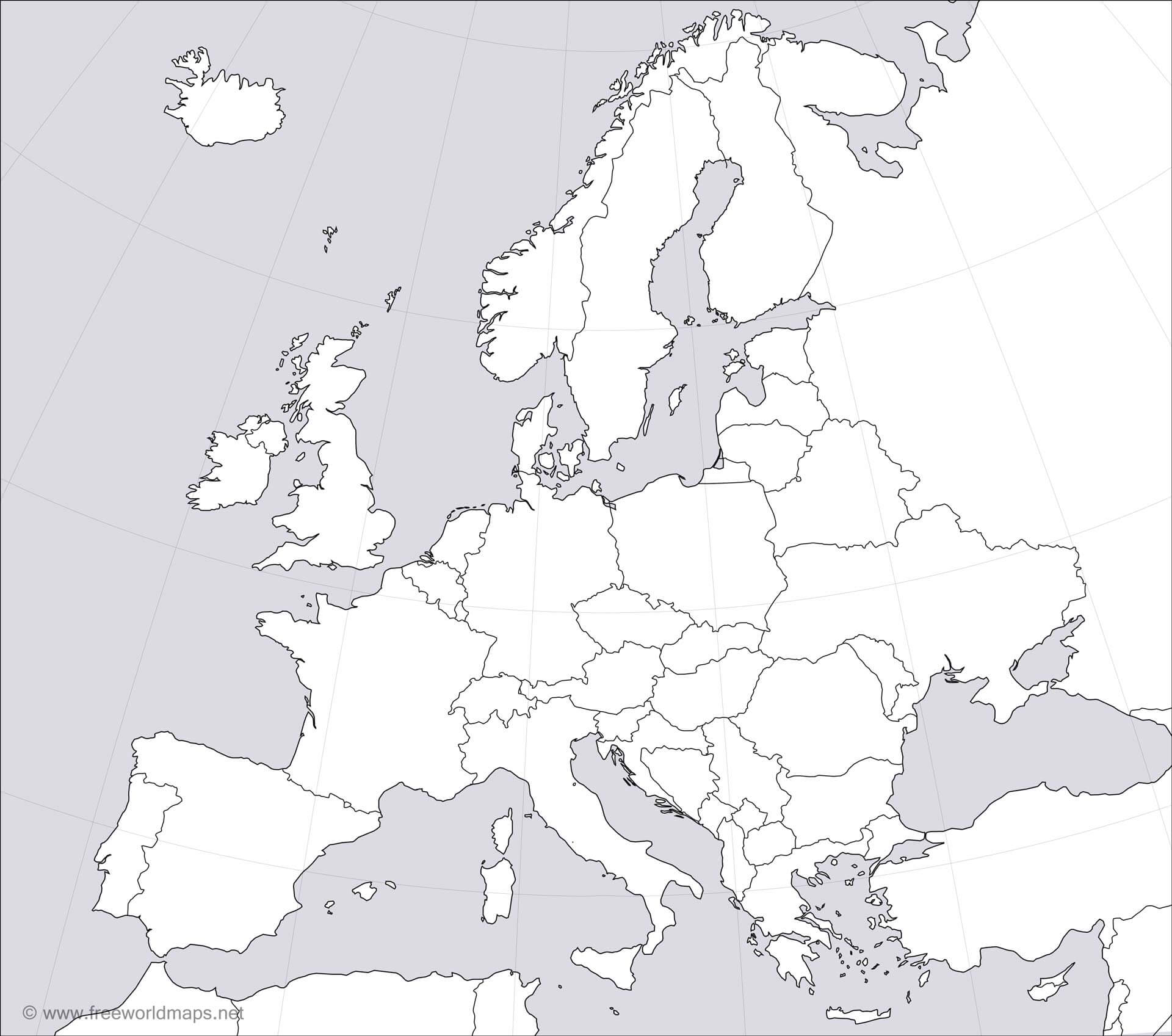 It is a picture of Insane Printable Map of Europe