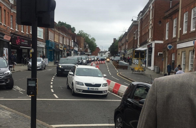 Reigate High Street Cycle Lane 4